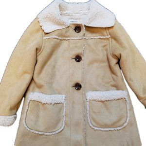 OLD NAVY Faux Shearling Toddlers Coat Jacket Beige
